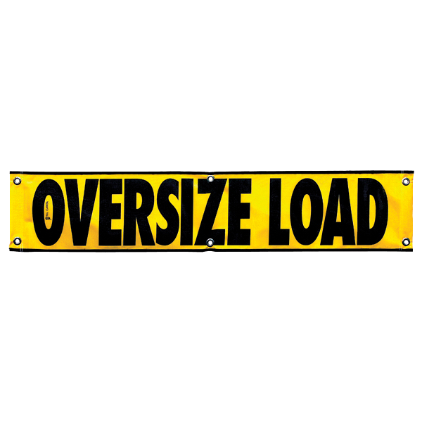 "12"" X60\"" Mesh OVERSIZE LOAD Banner"