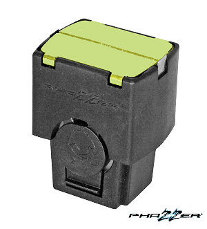 Phazzer 21' Dart Pro Cartridge 7/16 Pin - lime Green blast doors